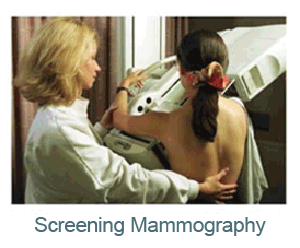 screening mammography lady helping other